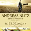 Solokonzert Samstag 22.06. in Traun