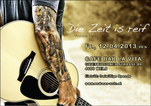 Flyer f. das Konzert in Wels - 12.03.2013